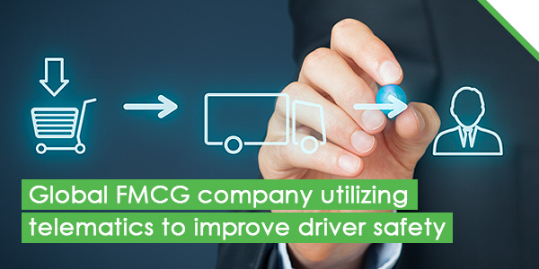 Global FMCG company utilizing telematics to improve driver safety