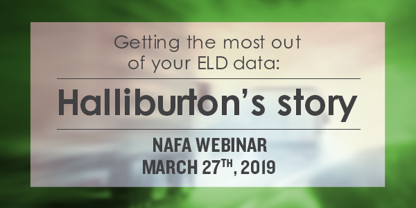 NAFA webinar: Getting the most out of your ELD data: Halliburton's story