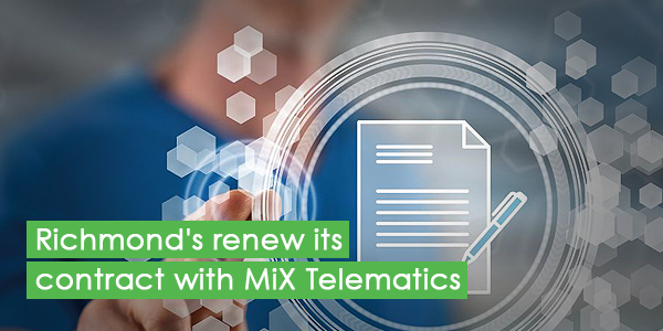 Past operational success sees Richmond's renew its contract with MiX Telematics