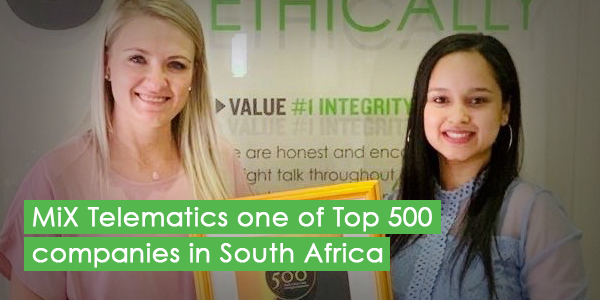 MiX Telematics one of Top 500 companies in South Africa